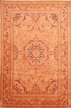 "Tabriz Brown Hand Knotted 6'7"" X 10'1""  Area Rug 100-23247"