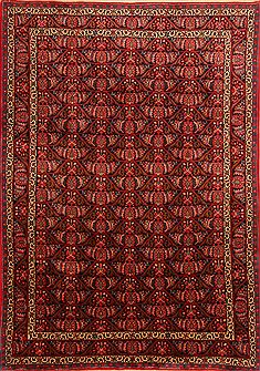 "Bidjar Red Hand Knotted 6'8"" X 9'6""  Area Rug 100-23263"
