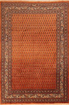 Persian Tabriz Red Rectangle 7x10 ft Wool Carpet 23271