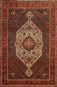 "Bakhtiar Red Hand Knotted 6'9"" X 10'1""  Area Rug 100-23272"