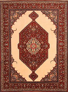 "Bakhtiar Red Hand Knotted 6'11"" X 9'3""  Area Rug 100-23278"
