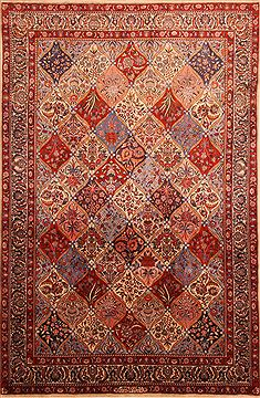 "Sarouk Red Hand Knotted 6'5"" X 9'11""  Area Rug 100-23279"