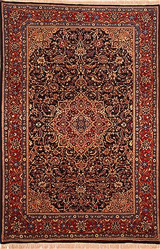 "Sarouk Red Hand Knotted 6'11"" X 10'2""  Area Rug 100-23280"