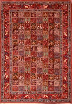 "Mood Red Hand Knotted 6'7"" X 9'3""  Area Rug 100-23283"