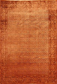 "Bidjar Yellow Hand Knotted 6'7"" X 9'9""  Area Rug 100-23284"