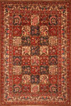 "Bakhtiar Red Hand Knotted 6'11"" X 10'3""  Area Rug 100-23316"