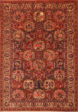 Persian Bakhtiar Red Rectangle 7x10 ft Wool Carpet 23319