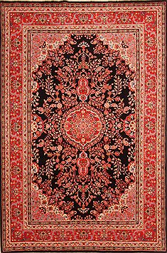 Chinese Tabriz Red Rectangle 6x9 ft Wool Carpet 23323