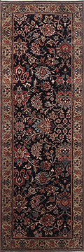 Indian Kashmir Blue Runner 6 to 9 ft Wool Carpet 23331