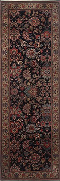 Indian Kashmir Blue Runner 6 to 9 ft Wool Carpet 23382