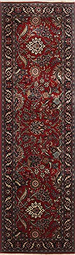 "Tabriz Red Runner Hand Knotted 2'5"" X 7'11""  Area Rug 250-23393"