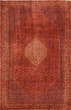 "Bidjar Red Hand Knotted 6'7"" X 10'3""  Area Rug 100-23408"