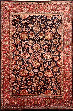 "Sarouk Red Hand Knotted 6'10"" X 10'4""  Area Rug 100-23439"