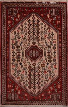 Indian Abadeh Beige Square 4 ft and Smaller Wool Carpet 23461