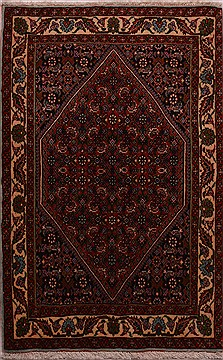 Persian Bidjar Red Rectangle 2x3 ft Wool Carpet 23471