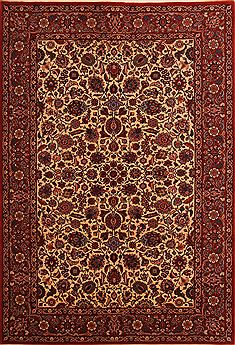 "Tabriz Red Hand Knotted 6'5"" X 9'7""  Area Rug 100-23476"