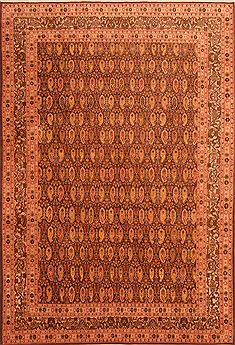 "Hereke Yellow Hand Knotted 6'9"" X 9'10""  Area Rug 100-23480"