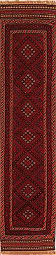 "Baluch Red Runner Hand Knotted 2'1"" X 9'1""  Area Rug 100-23543"