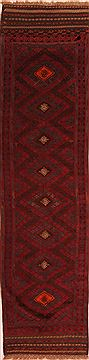 "Baluch Red Runner Hand Knotted 2'2"" X 9'0""  Area Rug 100-23557"