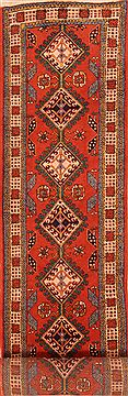 "Ardebil Orange Runner Hand Knotted 2'4"" X 12'3""  Area Rug 100-23664"