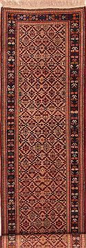 "Kazak Brown Runner Hand Knotted 2'6"" X 10'9""  Area Rug 100-23682"