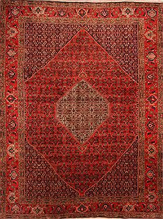 "Bidjar Red Hand Knotted 9'9"" X 13'0""  Area Rug 100-23688"
