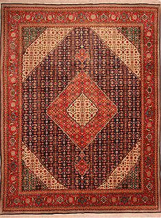 Persian Tabriz Red Rectangle 10x13 ft Wool Carpet 23781
