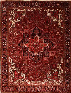 "Heriz Red Hand Knotted 10'8"" X 13'9""  Area Rug 100-23786"