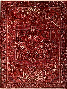 "Heriz Red Hand Knotted 10'3"" X 13'4""  Area Rug 100-23790"