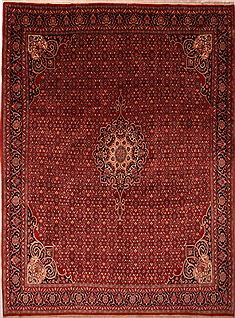 "Bidjar Red Hand Knotted 10'2"" X 13'7""  Area Rug 100-23793"