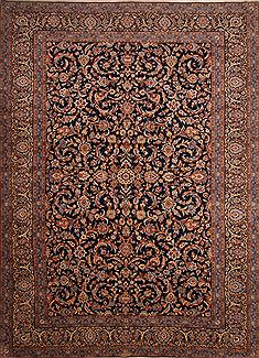 "Kashan Blue Hand Knotted 9'10"" X 13'8""  Area Rug 100-23794"