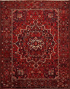 "Bakhtiar Red Hand Knotted 10'1"" X 12'10""  Area Rug 100-23796"