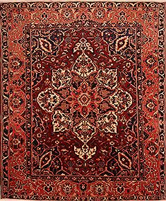 "Bakhtiar Red Hand Knotted 10'7"" X 12'10""  Area Rug 100-23800"