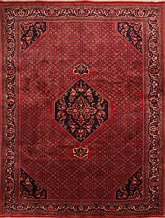 "Bidjar Red Hand Knotted 10'1"" X 13'0""  Area Rug 100-23801"