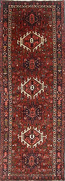 Persian Karajeh Red Runner 10 to 12 ft Wool Carpet 23835