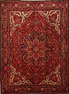 "Heriz Red Hand Knotted 10'0"" X 13'6""  Area Rug 100-23857"