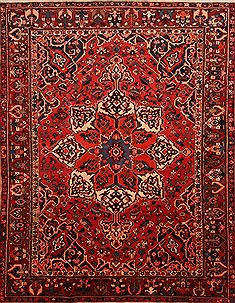 Persian Bakhtiar Red Rectangle 10x12 ft Wool Carpet 23864