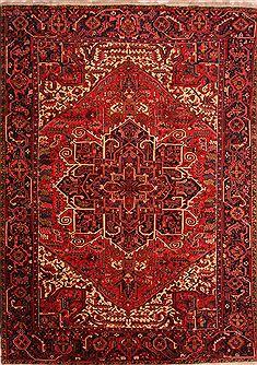 Persian Heriz Red Rectangle 9x12 Ft Wool Carpet 23866
