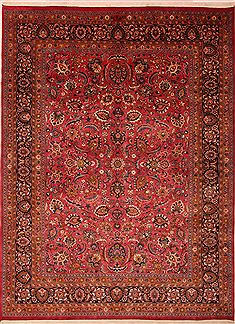 "Khorasan Red Hand Knotted 9'6"" X 12'10""  Area Rug 100-23881"