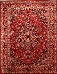 "Khorasan Red Hand Knotted 9'9"" X 12'7""  Area Rug 100-23908"