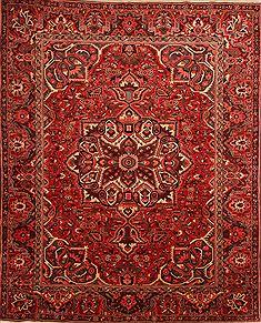 "Bakhtiar Red Hand Knotted 10'5"" X 12'11""  Area Rug 100-23933"