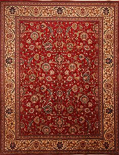 "Tabriz Red Hand Knotted 8'6"" X 12'4""  Area Rug 100-23966"