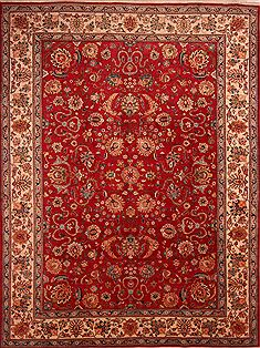"Persian Tabriz  Wool Red Area Rug  (10'0"" x 13'3"") - 253 - 23974"