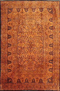 "Kashmar Brown Hand Knotted 8'2"" X 12'3""  Area Rug 100-23986"