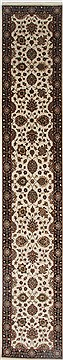 "Agra Beige Runner Hand Knotted 2'6"" X 14'0""  Area Rug 250-23991"