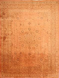 """Persian Mashad  Wool Beige Area Rug  (9'9"""" x 13'0"""") - 253 - 24000"""