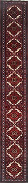 "Rudbar Red Runner Hand Knotted 2'6"" X 16'5""  Area Rug 250-24014"