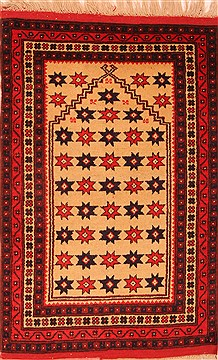 "Heriz Beige Hand Knotted 2'8"" X 4'4""  Area Rug 100-24045"
