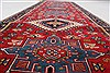 Karajeh Red Runner Hand Knotted 26 X 80  Area Rug 250-24422 Thumb 1