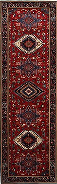 "Karajeh Red Runner Hand Knotted 2'6"" X 8'0""  Area Rug 250-24422"